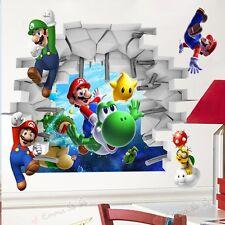 Super Mario Wandgemälde Vinyl Wandsticker Kinderzimmer Dekor Abziehbilder