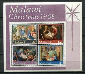 36913) Malawi 1968 MNH Christmas S/S