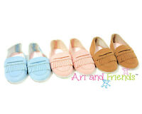 """Doll Clothes 18"""" Shoes Loafers Tan Arianna Fits American Girl Dolls"""