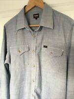Lee Long-Sleeve Cotton Western Shirt - Large - Great Details.