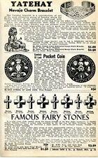 1941 Print Ad Jeffrey Good Luck Coin Indian Yatehay Bracelet Famous Fairy Stones