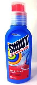 Shout Advanced Set In Stain Scrubber Gel Brush, Ultra Concentrated (8.7 oz.)