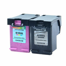 2xReman Ink Cart for HP 61XL CH563W Black CH564W Color Deskjet 1055 1510 Printer