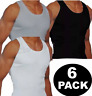 New Mens 6 Pack Vests Pure Cotton Gym Top Summer Training S M L XL 2XL Underwear