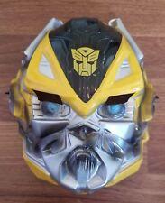 Transformers Yellow Hasbro Disguise Costume Mask Halloween Plastic Stretch Kids