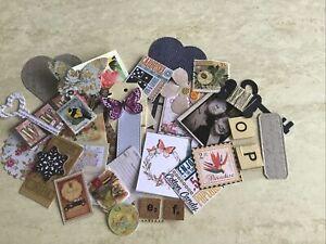 40 Small Ephemera Embellishment Kit Suit Junk Journal Tags