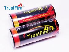 Trustfire Rechargeable 26650 3.7v 5000 Protected Li-ion PCB Battery x2 QR CHECK