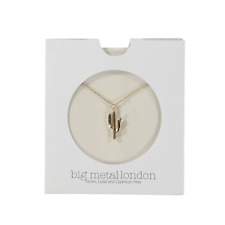 Big Metal London Carlotta Cactus Delicate Necklace Gold