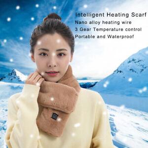Winter Frauen beheizt Schal USB elektrische Heizung Halstuch Plüsch Halswärmer