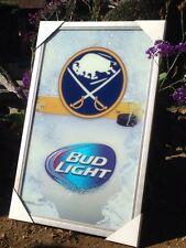 "Bud Light Buffalo Sabres NHL Hockey Beer Bar Mirror Frame  ""New"""