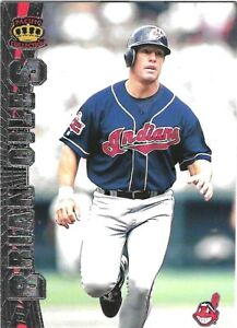BRIAN GILES 1997 PACIFIC SILVER #69 SERIAL #XX/67 CLEVELAND INDIANS
