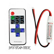 12V Wire RF Wireless Remote Switch Controller Dimmer for Mini LED Strip Light