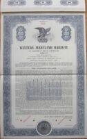 1951 Bond Certificate: 'Western Maryland Railway' - Blue