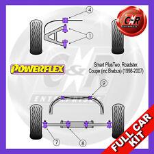 Smart Roadster inkl. Brabus (98-07) Powerflex komplett Buchsensatz