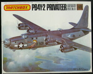 1980 Matchbox Models 1/72 CONSOLIDATED PB4Y-2 PRIVATEER *SEALED*