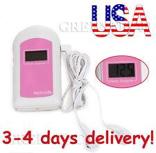CE FDA CONTEC BabySound B Fetal Doppler + Gel Heart Beat LCD Display【USA SELLER】
