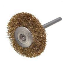 10 x Brass Wire Brush Round Brushes Disc Brush Pot Brush for Dremel 25MM P2B4
