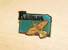 Vintage Kansas Bird in Flight Grouse Pin Tac back Lapel Hat Pin Multi-Color