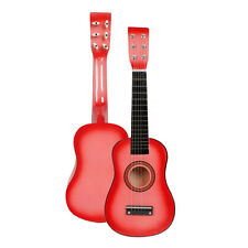 """23"""" Beginners Kids Acoustic Guitar 6 String with Pick Children Kids Gift Pink"""