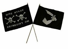 "12x18 12""x18"" Wholesale Combo Pirate Death Zone Prisoner & Thomas Tew Stick Flag"