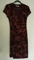 Per Una Sleeveless Red Floral Shift Dress - Size 12 (161)