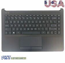 New HP Pavilion 14-CF 14-DF 14-DK Upper Palmrest w/ Keyboard Touchpad L24818-001