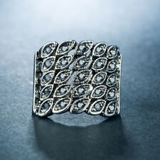 Gorgeous Women Wedding Rings 925 Silver Filled Fashion Crystal Ring Size 10