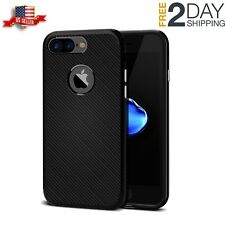 iPhone7 Plus Case Rugged Stylish Anti Slip Carbon Cover Ultra Slim Black