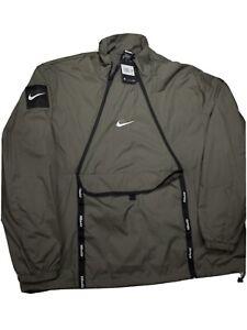 🔥Nike Air NSW Sportswear Men's Woven Olive Pullover Jacket SZ 2XLT-XXL-Tall