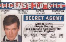 Roger Moore Agent 007 James Bond fun collectors card Drivers License to Kill