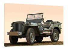 Willys JEEP MB - 30x20 pollici Canvas-Foto Incorniciata stampa OPERA D'ARTE WW2