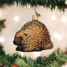 Porcupine Glass Ornament