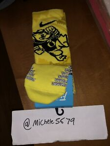 Nike Oregon Ducks Stomp Out Cancer Doernbecher DB Socks Size XXL 16-19