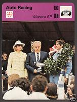 MONACO GRAND PRIX Jody Scheckter 1977 Winner Photo 1978 SPORTSCASTER CARD 21-22