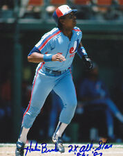 HUBIE BROOKS MONTREAL EXPOS  2 X ALL STAR 86-87  ACTION SIGNED 8x10