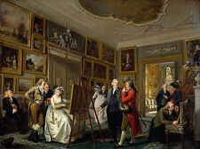 Excellent artwork Oil painting Art gallery Museum gentlemen with artist canvas