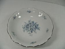 JOHANNA HAVILAND BAVARIA GERMANY BLUE BOUQUET 7 5/8 IN SOUP SALAD BOWL PLATINUM