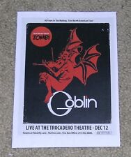 GOBLIN ~ Zombi ~ USA NORTH AMERICAN TOUR MINI 2-SIDED TOUR FLYER ~ AD ~ POSTER