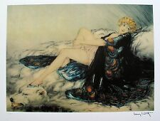 Louis Icart SILK ROBE Signed Facsimile Signed Limited Edition Art Giclee