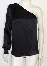 Chloe black silk one sleeve asymetrical blouse  worn