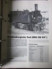 Neben- und Schmalspurbahnen Triebfahrzeuge 15: Württemberg Tssd DRG DB 99.61