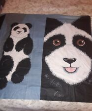 Sewing Fabric Giant Panda Bear Pillow Quilt each Panel has 1 small 1 large