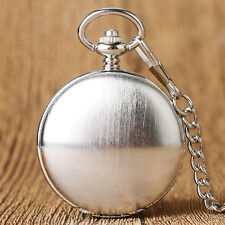 Antique Style Silver Mechanical Pendant Pocket Watch Roman Numerals Xmas Gift
