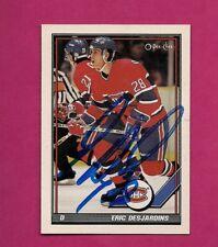 RARE CANADIENS ERIC DESJARDINS AUTHOGRAPH CARD (INV# A4471)