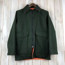 Woolrich Green Orange Reversible Parka Jacket USA MADE Hunting Field Cruiser S
