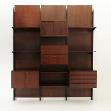 Libreria modulare in palissandro anni 60, mid century wall unit, italian modern