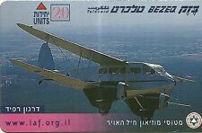 RARE / CARTE TELEPHONIQUE - AVION DE GUERRE ARMEE ARMY : ISRAEL / PHONECARD