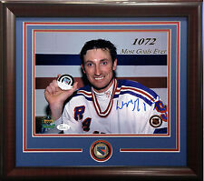 Wayne Gretzky Signed 8x10 1072 goals UD photo framed Rangers coin auto JSA COA