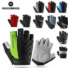 ROCKBROS велосипед короткие перчатки дышащий Велоспорт гель ударопрочный половину пальца перчатки
