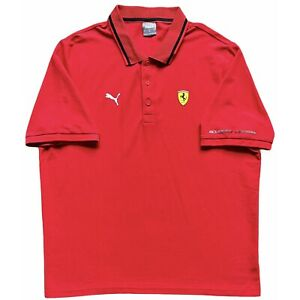 Authentic Puma Ferrari Scuderia 2021 F1 Team Classic Polo Shirt. BNWOT, Size XL.